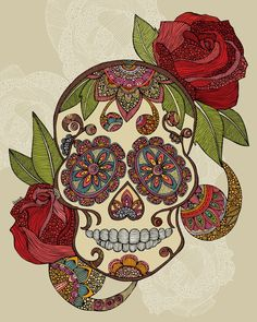Sugar Skull..perfect for in memory of tattoo
