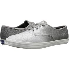 Keds Champion Ombre Glitter Women's Lace up casual Shoes, Gray ($41) ❤ liked on Polyvore featuring shoes, sneakers, grey, grey shoes, laced up shoes, laced shoes, keds shoes and keds