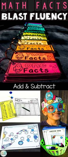 Need something tried and true that will help students with mastering math facts fluency? This resource focuses on addition and subtraction facts and has options for differentiating instruction to help all students with learning them. Second Grade Math, First Grade Math, Grade 1, Fun Math, Math Activities, Teacher Resources, Math Facts, Multiplication Facts, Martial