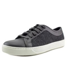 VINCE Vince Ashton Men  Round Toe Leather Gray Sneakers'. #vince #shoes #sneakers