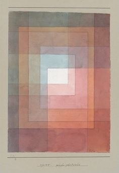 'White Framed' by Paul Klee = expressionism, cubism, and surrealism