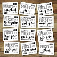 Less Ordinary Designs: First Day of School 2016 - Free Printable signs