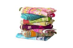 Kantha Collection - these vintage throws are hand-stitched and completely one of a kind.