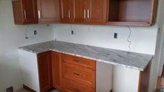 Counter tops are in