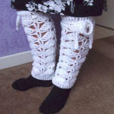 Free Crochet Fan Pattern Leg Warmers