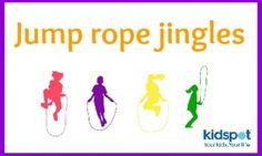 Jump rope jingles for kids Jump Rope Games, Jump Rope Workout, Music Activities, Activities For Kids, Skipping Rope, Cool Baby Stuff, Fun Stuff, Activity Days, Physical Education