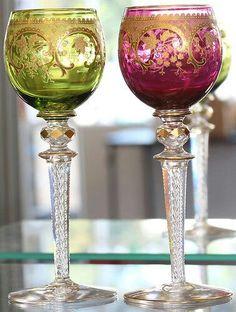 Moser(?) Goblets