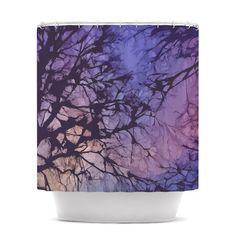 Alison Coxon Violet Skies Shower Curtain  KESS by KessInHouse