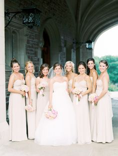 cream colored bridesmaids dresses by http://www.jennyyoo.com/bridesmaids-noflash.html Photography by claryphoto.com, Floral Design by http://sistersflowers.net