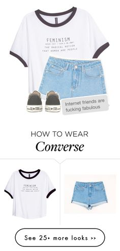 """Rad"" by beylulari on Polyvore featuring H&M and Converse"