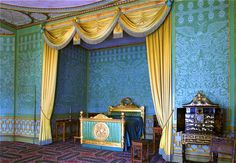 Interior of The Royal Pavilion, Brighton, East Sussex: Prince Regent's Apartments. www.lets-unwind.com