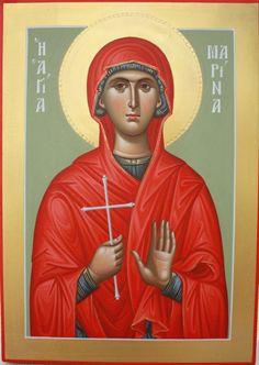 Αγία Μαρίνα / Saint Marina Orthodox Christianity, Orthodox Icons, Saints, Prayers, Baseball Cards, Movie Posters, Inspiration, Holy Quotes, Cyprus