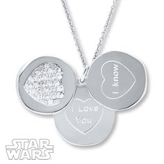 Star Wars Necklace I Love You/I Know Sterling Silver