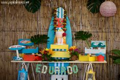 Awesome surf beach birthday party! See more party ideas at CatchMyParty.com!