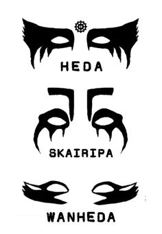War paint of Heda (Commander; Lexa), Skairipa (Death from Above; Octavia) and Wanheda (Commander of Death; Clarke) from The 100 TV Show. Lexa The 100, The 100 Clexa, Clarke The 100, The 100 Show, The 100 Cast, Maquillage Halloween, Halloween Makeup, Halloween Costumes, The 100 Grounders