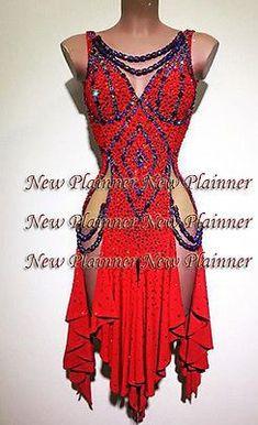 L754 women ballroom Ramba Latin /Rhythm Samba US 8 Dance Dress sexy
