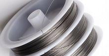 100 М Серебряный Тигр Хвост Бисероплетение провода 0.45 мм * швейных ниток проволоки нейлоновый шнур ювелирных изделий нейлоновой нити(China (Mainland))