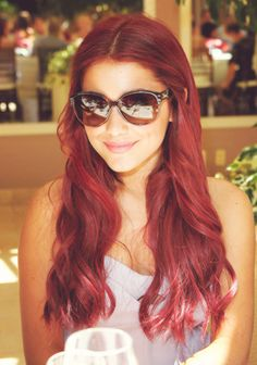 Ariana Grande; I wish I was brave enough to dye my hair a vibrant red!!!