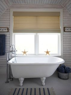 Give a bath cottage style with a muted color scheme. Find low-cost bathroom updates: http://www.bhg.com/bathroom/small/low-cost-updates/?socsrc=bhgpin081512mutedcolorscottagebath#page=22