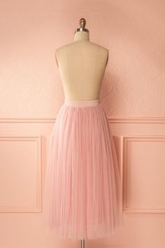 Blade Pink Tulle Midi Skirt | Boutique 1861