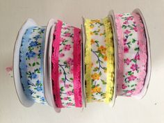 Colourful trims for craft & sewing
