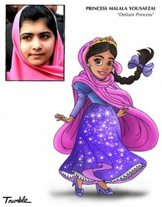 Not sure I'd cast her as a super-stereotyped Disney princess. But she is a heroine the world over, and should be celebrated by all!