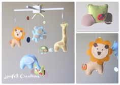 Baby mobile Animals Mobile Forest Mobile Zoo by LoveFeltXoXo