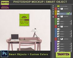 8x10 Portrait Canvas Photoshop Print Mockup C-OF3 4 PNG