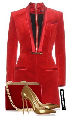 """Untitled #2114"" by whokd ❤ liked on Polyvore featuring Balmain and Christian Louboutin"