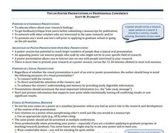 Tips on Poster Presentations at Professional Conferences