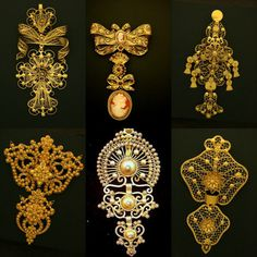 Tesouros de Viana do Castelo Antique Jewellery Designs, Antique Jewelry, Vintage Jewelry, India Jewelry, Ethnic Jewelry, Portugal, Portuguese Culture, Coin Jewelry, Jewlery