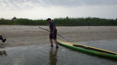 Steve Haul'n out at the mid point of the Donny Fund Paddle on Lakes bay