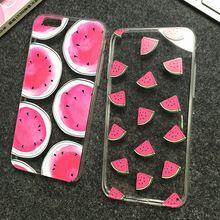 Nueva caliente venta sandía creativa imagen Logo luz del teléfono de TPU volver caja del teléfono cubierta para el Iphone 5 5S YC460(China (Mainland))