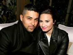 Wilmer Valderrama and Demi Lovato on February 13, 2013.