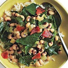 Low-Fat, High-Fiber Recipes for a Healthy Heart -- Black-Eyed Peas and Greens