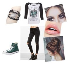 """""""#slytherinwolf"""" by queen-sanja on Polyvore featuring Converse"""