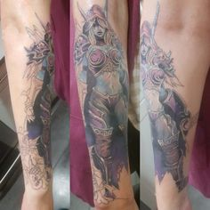 Sylvanas. First part of sleeve by Spencer @ Captains Tattoo in Chilliwack BC