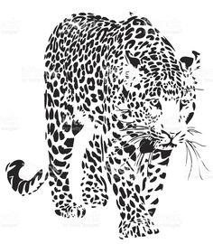 Вектор с леопардовым принтом Сток Вектор Стоковая фотография