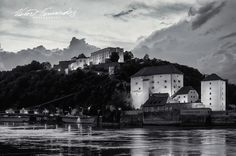 #passau #germany view of Vest Niederhaus #castle #exploreuniworld had an amazing time  #travel on the #danube #river #wanderlust #europe  #photoftheday #Photography  #sunset #architecture #amazingtravelbeauty  #landscape  #nikon #monochrome #instagood #printsforsale #instagram #bnw #bnw_society