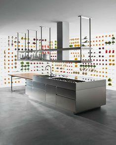 #stell #kitchen #acciaio Interior Design, Kitchen, Nest Design, Cooking, Home Interior Design, Interior Designing, Kitchens, Home Decor, Cuisine