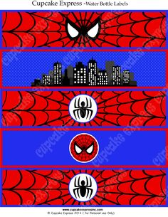 Spiderman INSTANT Printable Water Bottle Labels by - Visit to grab an amazing super hero shirt now on sale! Superhero Birthday Party, Man Birthday, Birthday Parties, Spiderman Theme, Superhero Superman, Niklas, Water Party, Man Party, Party Printables