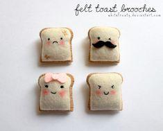 kawaii toast pins :)