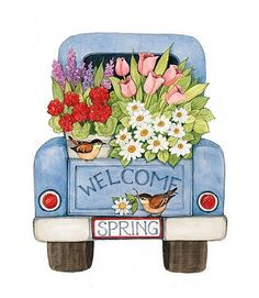 Tole Painting, Painting On Wood, Painting & Drawing, Truck Crafts, Truck Art, Spring Painting, Quilling, Paint Party, Learn To Paint