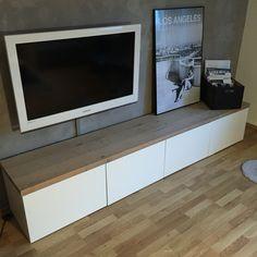 #ikea hack besta Schubladen Element mit Echtholz Eiche Platte, Ikea Bilderrahmen schwarz weiß, Foto Los Angeles LA Getty Museum DIY painted Box Holzkiste