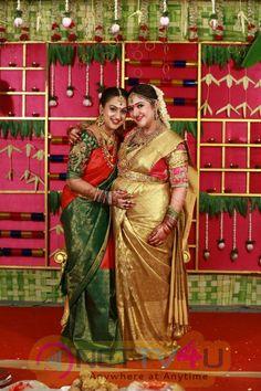 Rahul - Sridevi Seemantham Function Beauteous Colourful Photos Tamil Gallery