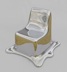 'melting chair' by philipp aduatz  GFRP with a special silver coating