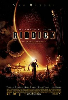The Chronicles of Riddick --Judi Dench, Vin Diesel--haven't seen this in awhile. Karl Urban, Vin Diesel, Judi Dench, Film Movie, Movies Showing, Movies And Tv Shows, The Chronicles Of Riddick, Film Science Fiction, Fantasy Movies