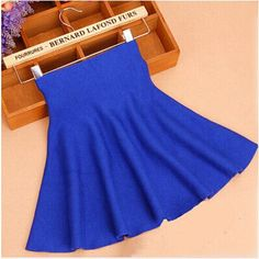 Spring Autumn Waist Knitted Skirts Women Pleated mini Skirt Casual Elastic Flared midi Short