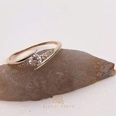 Shop this simple gold gold ring. Perfect for any occasion #stackablering #engagementring #goldring #diamondring