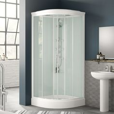 View the Quadrant Shower Cabin with 6 Body Jets & Hydromassage 900 x - Aqualine Range. Finance options & free delivery available, shop now! Verona, Quadrant Shower, Shower Cabin, Amazing Bathrooms, Better Bathrooms, Large Shower, Steam Showers, Shower Enclosure, Cubicle